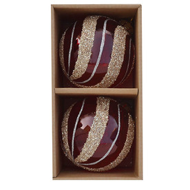 allen + roth 2-Pack Gold Glass Ornament