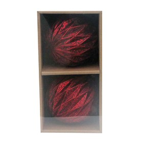 allen + roth 2-Pack Red Glass Ornaments