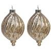allen + roth 2-Pack Gold Ornament Set