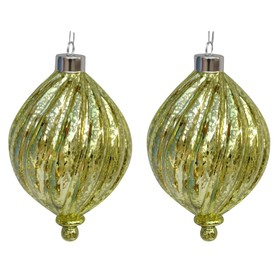 allen + roth 2-Pack Green Ornament Set