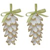 allen + roth 2-Pack White and Silver Ornament Set