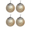 allen + roth 4-Pack Gold and Silver Ornament Set