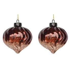 Holiday Living 2-Pack Brown Ornament Set