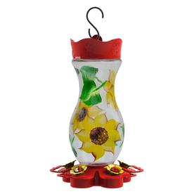 Garden Treasures Glass Hummingbird Feeder