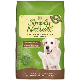 Simply Natural 26 lbs Chicken Meal and Potato Formula All-Natural Adult Dog Food
