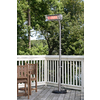 Well Traveled Living 5,118-BTU 110-Volt Silver Stainless Steel Electric Patio Heater