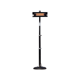 Well Traveled Living 5,118-BTU Black Steel Electric Patio Heater 02678