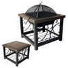 Fire Sense 28-in Bronze Steel Wood-Burning Fire Pit