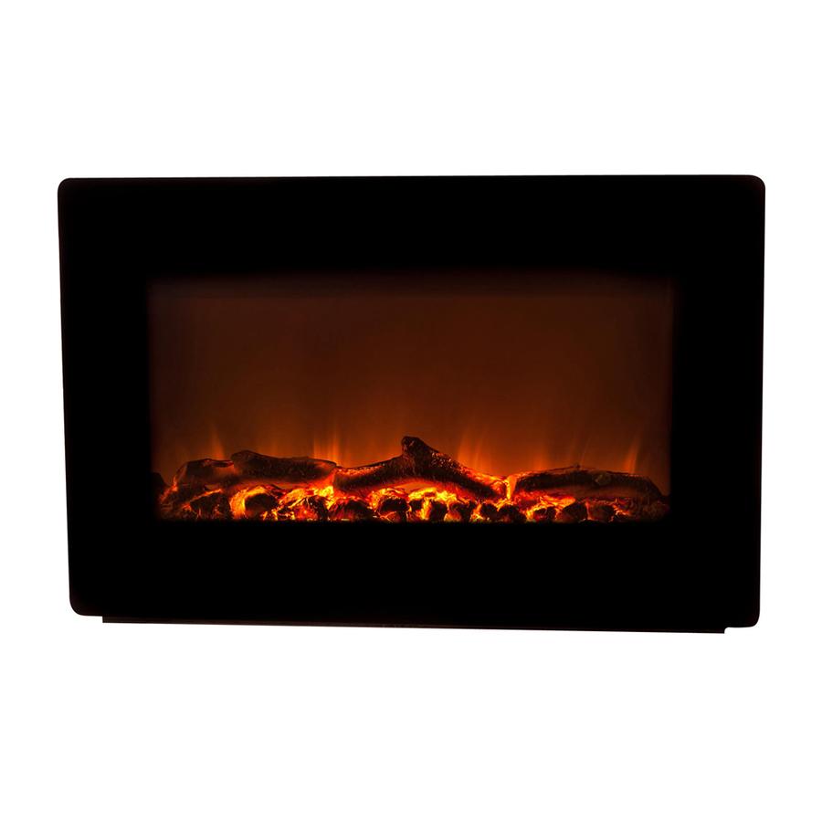 Shop Fire Sense 30 In W 4 780 Btu Black Metal Wall Mount Fan Forced Electric Fireplace With