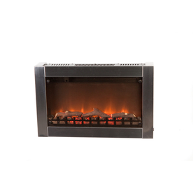 Shop Fire Sense 31 In Silver Wall Mount Electric Fireplace At