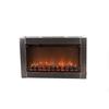 Fire Sense 31-in Silver Wall-Mount Electric Fireplace
