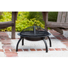 Fire Sense 22-in W Black Steel Wood-Burning Fire Pit