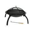 Fire Sense 22-in Black Steel Wood-Burning Fire Pit