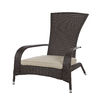Patio Sense Mocha Wicker Adirondack Chair