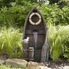 Garden Treasures 38.97-in Resin Tiered with Birdbath Fountain