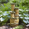 Garden Treasures 34.05-in Resin Tiered Fountain