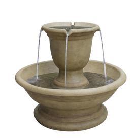 Garden Treasures 21.6-in Resin Tiered Fountain