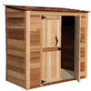 Outdoor Living Today Lean-To Cedar Storage Shed (Common: 6-ft x 3-ft; Interior Dimensions: 6.08-ft x 2.93-ft)