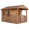 Outdoor Living Today Gable Cedar Storage Shed (Common: 8-ft x 12-ft; Interior Dimensions: 7.85-ft x 11.38-ft)