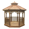 Outdoor Living Today 14-ft 7-in x 14-ft 7-in x 13-ft Natural Cedar Wood Gazebo