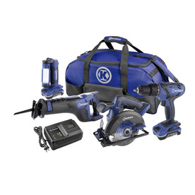 Kobalt 4-Tool18-Volt Lithium Ion Cordless Combo Kit with Soft Case