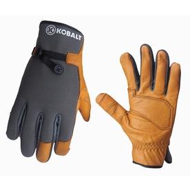 Kobalt Medium Men's Leather Palm Work Gloves