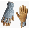 Style Selections Women's Large Beige/Turquoise Leather Garden Gloves