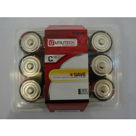 Utilitech 12-Pack C Alkaline Batteries