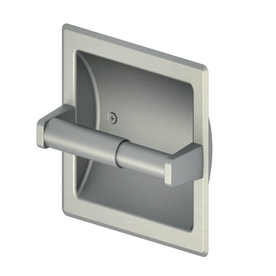 Shop project source seton brushed nickel pvd recessed toilet paper holder at - Recessed brushed nickel toilet paper holder ...