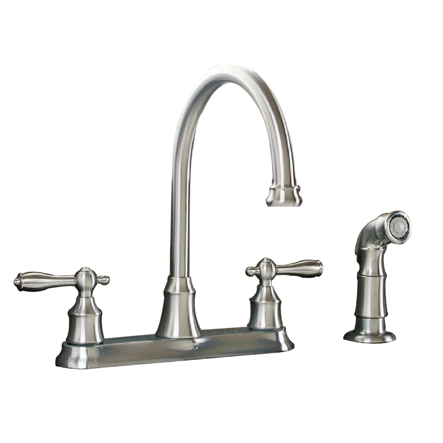 shop aquasource stainless steel pvd 2 handle high arc