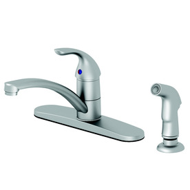 shop aquasource stainless steel pvd 1 handle low arc