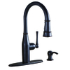 AquaSource Oil Rubbed Bronze 1-Handle Pull-Down Kitchen Faucet