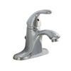 AquaSource Chrome 1-Handle 4-in Centerset WaterSense Bathroom Faucet (Drain Included)