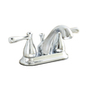 AquaSource Kirkmont Chrome 2-Handle 4-in Centerset WaterSense Bathroom Faucet (Drain Included)