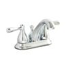 AquaSource Kirkmont Chrome 2-Handle 4-in Centerset WaterSense Bathroom Faucet (Drain Included)
