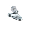 Project Source Polished Chrome 1-Handle 4-in Centerset WaterSense Bathroom Faucet (Drain Included)