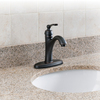 AquaSource Norcroft Oil Rubbed Bronze 1-Handle 4-in Centerset WaterSense Bathroom Faucet (Drain Included)