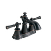 AquaSource Glyndon Oil Rubbed Bronze 2-Handle 4-in Centerset WaterSense Bathroom Faucet (Drain Included)