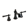 AquaSource Glyndon Oil Rubbed Bronze 2-Handle Widespread WaterSense Bathroom Faucet (Drain Included)