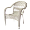 Garden Treasures Shearport White Steel Woven Patio Chair