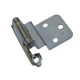 Gatehouse 2-Pack 2-3/4-in x 2-1/8-in Aged Brass Self-Closing Cabinet Hinges