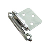Gatehouse 2-Pack 2-3/4-in x 1-7/8-in Polished Chrome Surface Self-Closing Cabinet Hinges