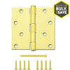 Gatehouse 4-in Satin Brass Entry Door Hinge