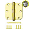 Gatehouse 3-in Polished Brass Entry Door Hinge
