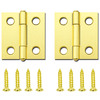 Gatehouse 1-1/2-in Brass Plated Entry Door Hinge