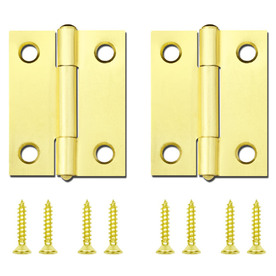 Gatehouse 2-in Brass Plated Entry Door Hinge