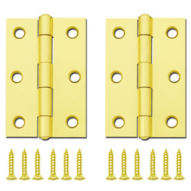 Gatehouse 3-in Brass Plated Entry Door Hinge