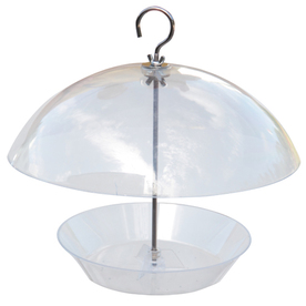 Garden Treasures Clear Plastic Platform Bird Feeder