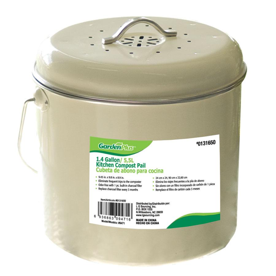 shop garden plus 1 4 gallon kitchen compost pail at. Black Bedroom Furniture Sets. Home Design Ideas