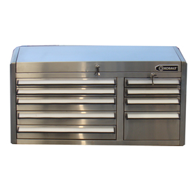 Kobalt 9-Drawer 41-in Tool Chest (Brushed Stainless Steel)